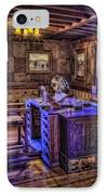 Gillette Castle Office Hdr IPhone Case by Susan Candelario