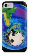 Global Biosphere, Southern Hemisphere, From Space IPhone Case