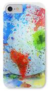 Globe Painting IPhone Case