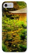 Golden Pavilion Temple In Kyoto Glowing In The Garden IPhone Case