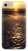Golden Sunset On The Sand Beach IPhone Case by Setsiri Silapasuwanchai