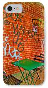 Grafitti Dining IPhone Case by Joan  Minchak