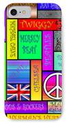 Graphic Sixties London IPhone Case by Andrew Fare