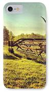 Great Photo Of Some Old #farm Tools IPhone Case by Pete Michaud