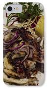 Griiled Fresh Greek Octopus IPhone Case by David Smith