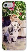 Guarding Geranium Sketchbook Project Down My Street IPhone Case by Irina Sztukowski