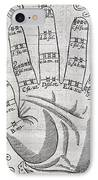 Harmonious Hand, 17th Century Artwork IPhone Case by Middle Temple Library