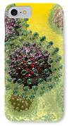 Hepatitis B Virus Particles IPhone Case by Russell Kightley