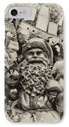 Here Comes Santa Claus IPhone Case by Bill Cannon