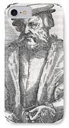 Hernan Cortes, Spanish Conquistador IPhone Case by Middle Temple Library