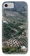 Hills Dales And Vineyards IPhone Case by Lorraine Devon Wilke