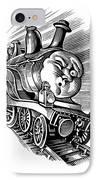 Holiday Train, Conceptual Artwork IPhone Case by Bill Sanderson