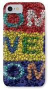 Home Sweet Home Bottle Cap Mosaic  IPhone Case by Paul Van Scott