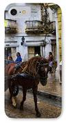 Horse And Buggy In Old Cartagena Colombia IPhone Case by David Smith