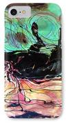 Horse Born Of Earth Water Sky IPhone Case by Carol Law Conklin