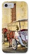 Horse Drawn Carriages In Guadalajara IPhone Case