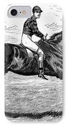 Horse Racing, 1880s IPhone Case by Granger