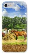 Horses At The Ranch IPhone Case by Elena Elisseeva