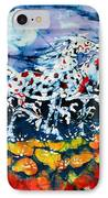Horses Prance On Flower Field In Summer Moon IPhone Case