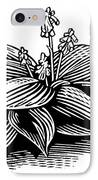 Hosta, Lino Print IPhone Case