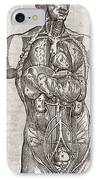 Human Male Torso, 16th Century IPhone Case by Middle Temple Library