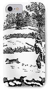 Hunting: Winter, C1800 IPhone Case