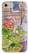 Hydrangea Sketchbook Project Down My Street IPhone Case by Irina Sztukowski