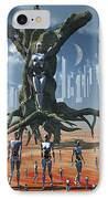 In An Alternate Reality Cyborgs Pay IPhone Case by Mark Stevenson
