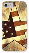 Independence Day Stary American Flag IPhone Case by Georgeta  Blanaru
