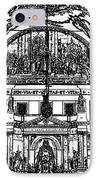 Inside St Louis Cathedral Jackson Square French Quarter New Orleans Stamp Digital Art IPhone Case by Shawn O'Brien