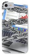 Internet Censorship, Conceptual Artwork IPhone Case by David Mack