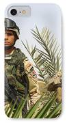 Iraqi Soldiers Conduct A Foot Patrol IPhone Case