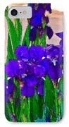 Iris 23 IPhone Case by Pamela Cooper