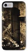 Iron Door Sepia IPhone Case by Kelly Hazel