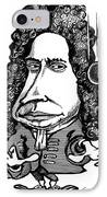 Isaac Newton, Caricature IPhone Case by Gary Brown