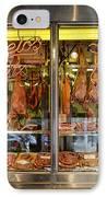 Italian Market Butcher Shop IPhone Case by John Greim