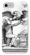 Jefferson: Cartoon, 1800 IPhone Case by Granger