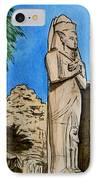 Karnak Temple Egypt IPhone Case by Irina Sztukowski