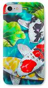 Koi And Lotus IPhone Case by Daniel Jean-Baptiste