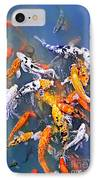 Koi Fish In Pond IPhone Case by Elena Elisseeva