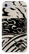 Land Sea Sky In Black And White IPhone Case by Caroline Street