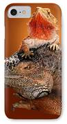 Lap Lizard IPhone Case by Jim Carrell