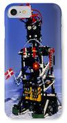 Lego Humanoid Robot Known As Elektra IPhone Case by Volker Steger