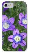 Legousia Pentagonia Flowers IPhone Case by Bob Gibbons