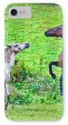 Leopard V Standardbred IPhone Case by Betsy Knapp