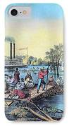 Life On The Mississippi, 1868 IPhone Case by Photo Researchers