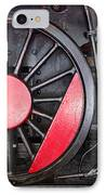 Locomotive Wheel IPhone Case by Carlos Caetano
