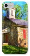 Lutz-franklin Schoolhouse IPhone Case by Paul Ward