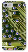 Macrophotograph Of Printed Circuit Board IPhone Case by Dr Jeremy Burgess