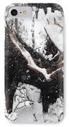 Male Moose Grazing In Snowy Forest IPhone Case